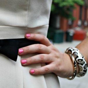 Leopard Print Enamel Bangle Bracelet by Sequin
